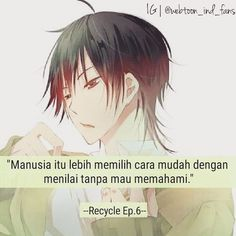 More quotes dari karakter webtoon? Sad Anime, Anime Neko, Kawaii Anime, Best Qoutes, Sad Quotes, Quotes Indonesia, Webtoon, Manhwa, Otaku