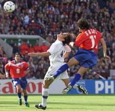 Marcelo Salas - Chile vs Italia - Francia 98. Who remembers this? We all stayed home from school to watch, and screamed our heads off!