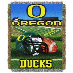 Oregon Ducks Tapestry Throw by Northwest, Multicolor