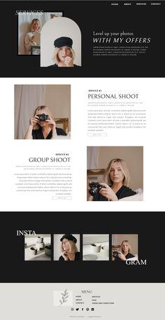 Website Design Inspiration, Website Design Layout, Blog Design, Layout Design, Ux Design, Minimal Web Design, Graphic Design, Photography Website Design, Modern Website
