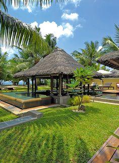 Constance Lemuria Resort villas. Seychelles