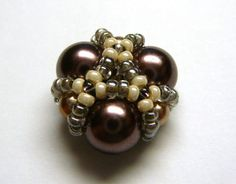 Beaded Bead - (Russian) good pictures. #seed #bead #tutorial