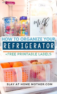 Cleaning Hacks, DIY Projects, And Organization for moms on a budget. I love refreshing spaces in our home and organizaing them on a dime! Fridge Organization, Craft Organization, Printable Labels, Free Printables, Ribbon Wall, Savings Jar, Clean Fridge, Kitchen Sale, Real Moms
