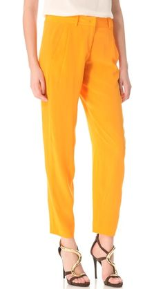 A brilliant hue for a cool pair of trousers.