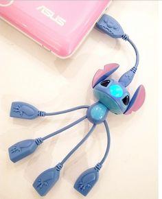 Stitch USB hub @ Tumblr http://amzn.to/2rsuGjX