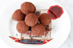 """Goat Cheese + Grand Marnier Truffles---""""only"""" 100 calories a piece. That's light for a truffle!"""