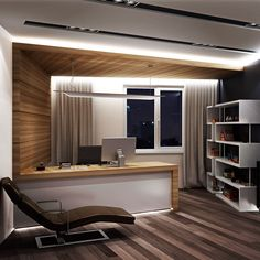 Home office decor is a very important thing that you have to make percfectly in your house. You need to make your home office decor ideas become a very awe Office Cabin Design, Small Office Design, Office Furniture Design, Office Interior Design, Home Office Decor, Office Interiors, House Design, Corporate Interiors, Office Designs