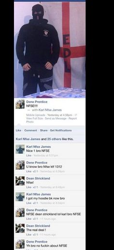 Convicted woman beater, Dene Prentice spends the day in his bedroom, dressed as a rapist... #EDL