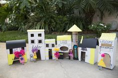 kids crafts: create a recycled village!