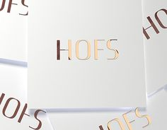 "Check out new work on my @Behance portfolio: ""LOGO Design_HOFS"" http://be.net/gallery/33106911/LOGO-Design_HOFS"