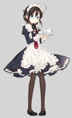 e-shuushuu kawaii and moe anime image board Manga Girl, Anime Girls, Anime Art Girl, Anime Sexy, Anime Sensual, Anime Chibi, Chica Anime Manga, Maid Outfit Anime, Anime Maid