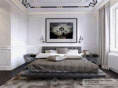 aménagement de maison grand lit pour la chambre à coucher