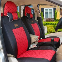 34 Best Red And Black Car Seat Covers Images Seat Covers Black