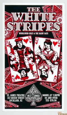 The White Stripes Poster 2003 Oct 7 Auckland New Zealand Poster Scott C 14 x 24