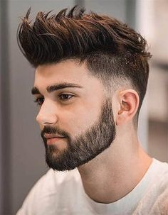 Short Beard Styles the collection of hair that grows on the chin and cheeks of humans and some non-human animals. Styles for men and Beard styles. Cool Hairstyles For Men, Haircuts For Men, Men's Haircuts, Stylish Hairstyles, Haircut Men, Haircut Short, Hair Updo, Asian Hairstyles Men Short, Men's Cuts