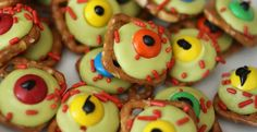Zombie Eyeballs | Make That Party More Fun And Exciting With These Sweet And Spooky Halloween Treat Ideas by Homemade Recipes at http://homemaderecipes.com/holiday-event/14-halloween-treat-ideas/