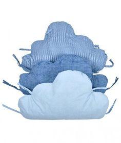 protector cuna cojines nubes azules minimoi