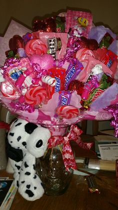 Valentines Day Candy Bouquet contact me to place an order :-)
