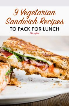 Sandwiches are the quintessential lunch food! All of these vegetarian sandwich r… Sandwiches are the quintessential lunch food! All of these vegetarian sandwich recipes taste great and they are easy to make ahead to pack for lunch! Vegetarian Sandwich Recipes, Veggie Sandwich, Healthy Sandwiches, Sandwiches For Lunch, Vegetarian Food, Simple Sandwich Recipes, Simple Vegetarian Recipes, Vegetarian Dinners, Panini Sandwiches