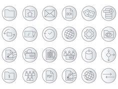 Iconsprache für Webprojekte der CM Informatik – Piktogramme