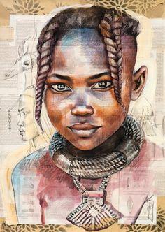 Stéphanie Ledoux - Himba Child and Landscape (Namibia)