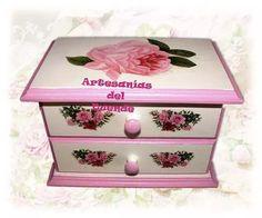 caja alhajero joyero cajonera vintage shabby chic -