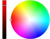 Interactive color wheel tool image