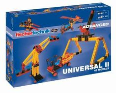 Fischertechnik Universal II by Fischertechnik. $215.32. High-quality product. Set contains 400 pieces. Construction kit for technicians. Build 48 different models. Made in Germany. From the Manufacturer                The universal genius with vice, lifting platform with car, sewing machine and an entire amusement park. Several models can be built at the same time. Here, the everyday technology is understood and experienced.                                    Produc...