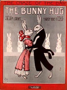 Vintage Sheet Music- 1912, The Bunny Hug by Harry Von Tilzer