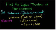 Find the Laplace Transform of f(t) = sin(3t)cos(2t)