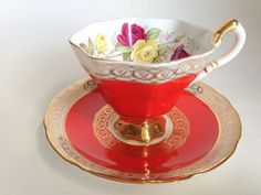 Ravishing Royal Stafford Tea Cup and Saucer, English Teacups,Tea Set, Bone China Cups and Saucers, Teacup and Saucer, Antique Teacups