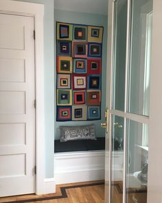 """Tona Hangen auf Instagram: """"For Day 17 / May 17 on the #hangenarttour - a design that riffs on a Denyse Schmidt quilt, adapted by me into a skinny wall hanging. I am…"""" Schmidt, Lockers, Armoire, Locker Storage, Skinny, Quilts, Cabinet, Furniture, Instagram"""