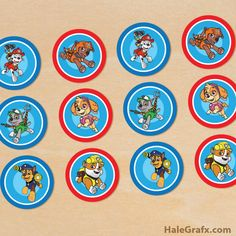 Free printable Paw Patrol cupcake toppers for your puppy party. Prints 12 toppers per sheet in PDF format. 6 different Paw Patrol toppers. Paw Patrol Cupcake Toppers, Paw Patrol Cupcakes, Paw Patrol Cake, Paw Patrol Party, Paw Patrol Birthday, 3rd Birthday Parties, Birthday Fun, Birthday Ideas, Cumple Paw Patrol