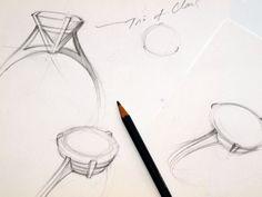 Design sketch for martini ring