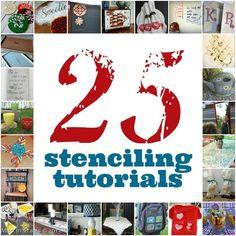 25 Stencil Project Tutorials - Mad in Crafts