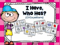I Have, Who Has Long Vowel Games {CVCe Pattern}