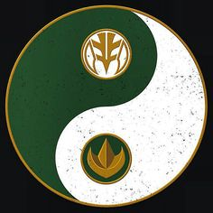 Green / White Ranger yinyang Power Rangers Tattoo, All Power Rangers, Green Power Ranger, Mighty Morphin Power Rangers, Power Ranges, Kamen Rider, Geek Culture, Anime, Tommy Oliver