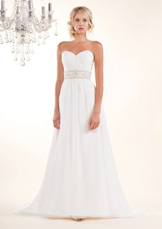 Winnie Couture Blush label is unique for beautifully draped modern gown combined with vintage inspired beading.