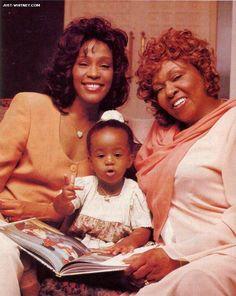 Three Generations...Mother Cissy Houston, Whitney Houston and Miss Bobbi Kristina Brown.