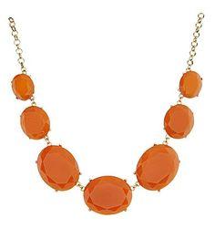 Natasha Accessories Oval Bib Statement Necklace | Dillards.com