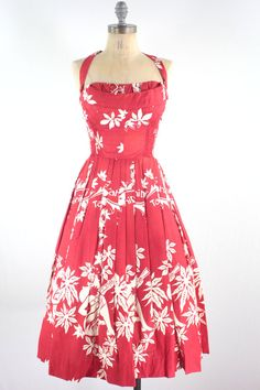 RESERVED// 1950s Hawaiian Dress // Vintage 50s by xtabayvintage ...
