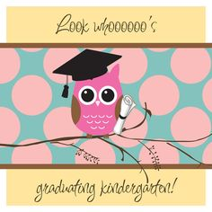 Items similar to graduation invitation- olivia on Etsy Graduation Cards, Graduation Invitations, Extra Gum, Graduation Gifts, Graduation Ideas, Owl Theme Classroom, Teacher Gifts, Teacher Stuff, Kindergarten Graduation