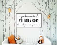 Gender neutral woodland nursery that will grow with your baby, www.makedoanddiy.com