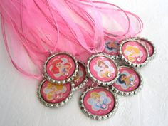 disney princess birthday party favors girls by littleprincessbling, $30.00