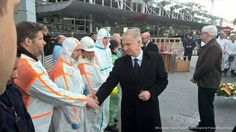 The Belgian Royal Courts: Their Majesties visiting Tuesday victims bed site