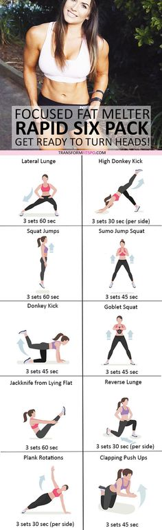 #womensworkout #workout #femalefitness Repin and share if this workout gave you rapid six pack definition! Click the pin for the full workout.