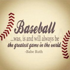 Baseball Decor Sign Quote Wooden