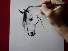 How to draw a horse head ink ) by TORA - YouTube