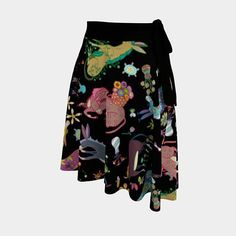 Fanciful colorful burros adorn this high quality soft eco-jersey wrap skirt. Details here: https://ift.tt/2mco04w