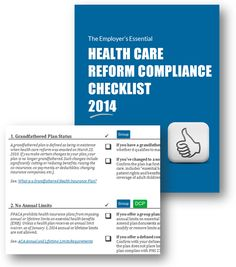Health care reform (#ACA) compliance checklist. Free to download, via ZaneBenefits